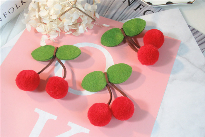 10Pcs Lovely Cherry Shaped Bowknot Hairpins Leaf Hair Clip Red Ball Twist Barrette Hair Accessories For Women Lady Girl Headwear 1x solid leaf shape metal hairpins hair clips for women hair accessories hairclips barrette hair cutting clip headwear headdress