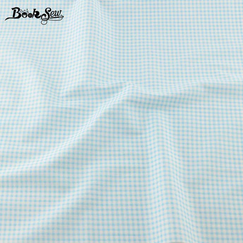 Conjunto de 5 unidades de tela de algodón Booksew, conjunto azul de 40CM x 50CM, conjunto de cuarto grueso, acolchado, lecho para costura, tela Tilda, Telas de retazos
