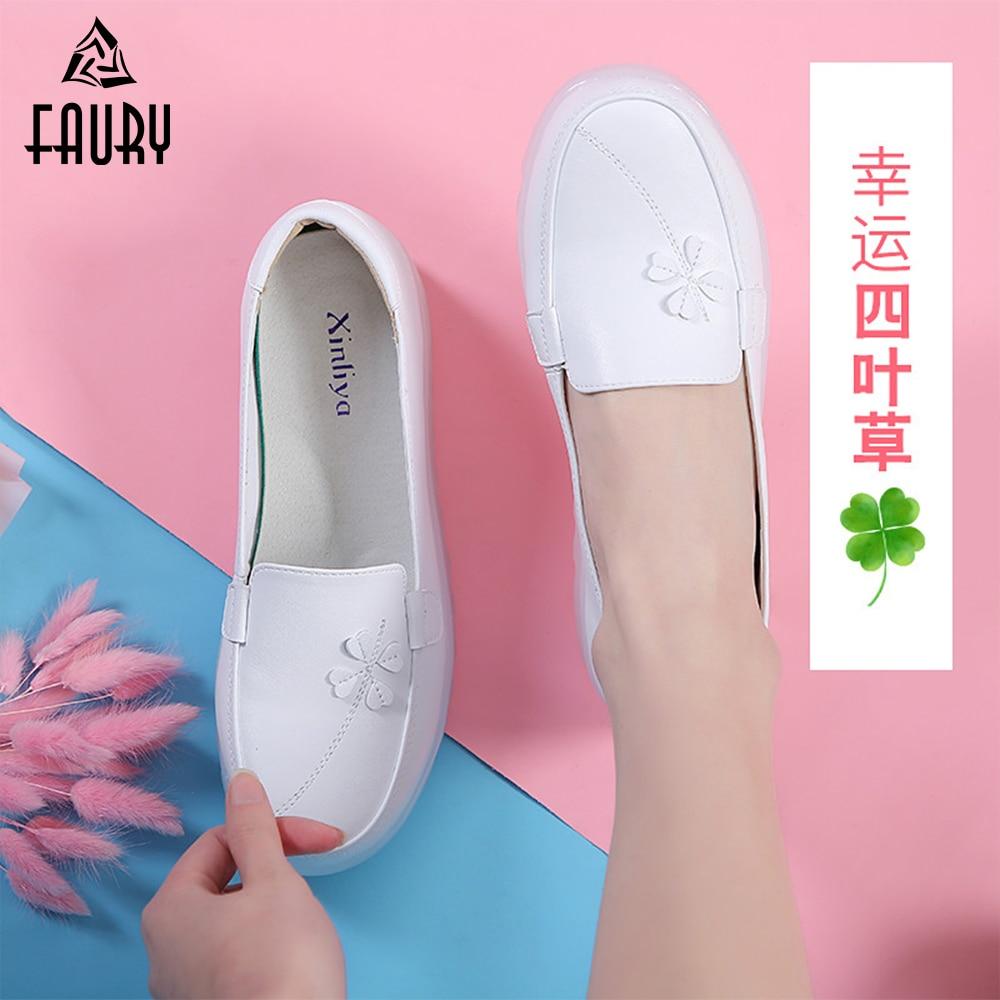 Nurse Shoes Summer Breathable Scrub  Medical  Surgical  Women Beauty Health Clover Zapatos Blancos Enfermera Mujer Enfermeras