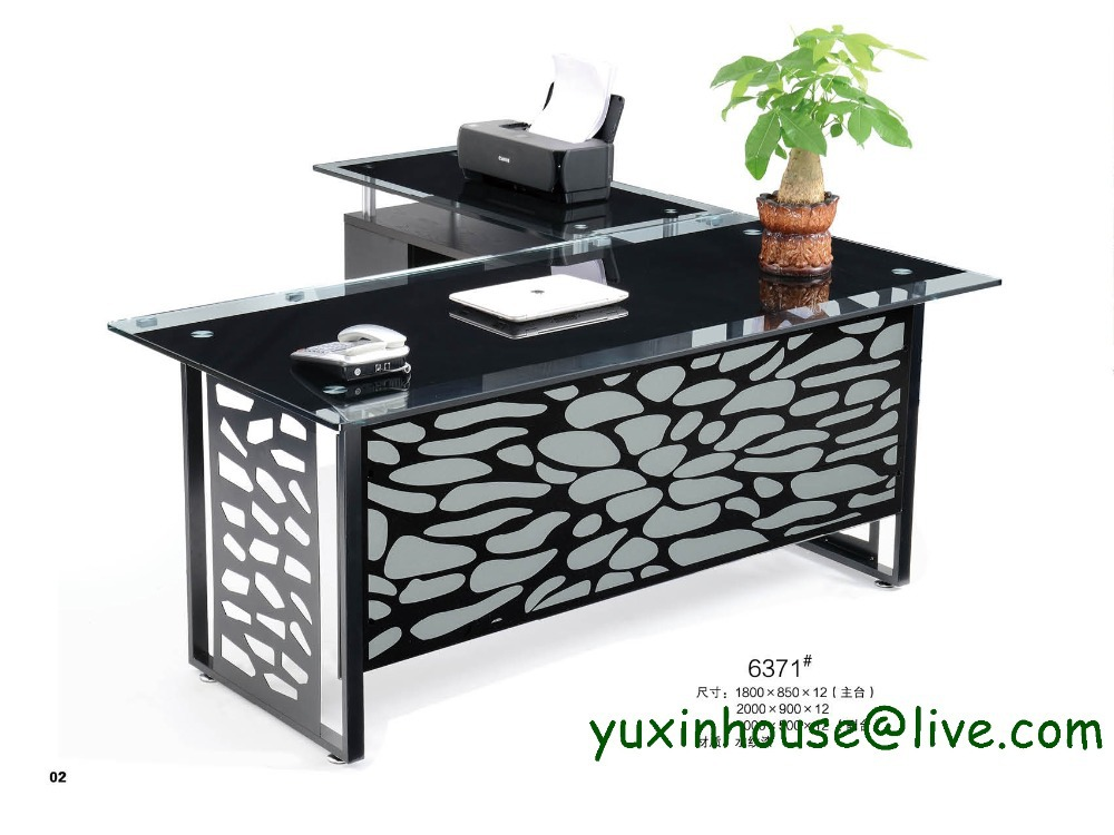 Tempered Glass Office Desk Boss Desk Table Commercial Office Furniture  Modern Design Executive Glass Office Desk 6371 On Aliexpress.com | Alibaba  Group