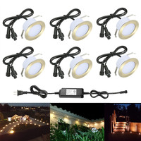 6pcs/lot 61mm 12V IP67 Bronze Kitchen Outdoor Terrace Pathway Stair Step LED Deck Rail Inground Recessed Lights Cabinet Lamp