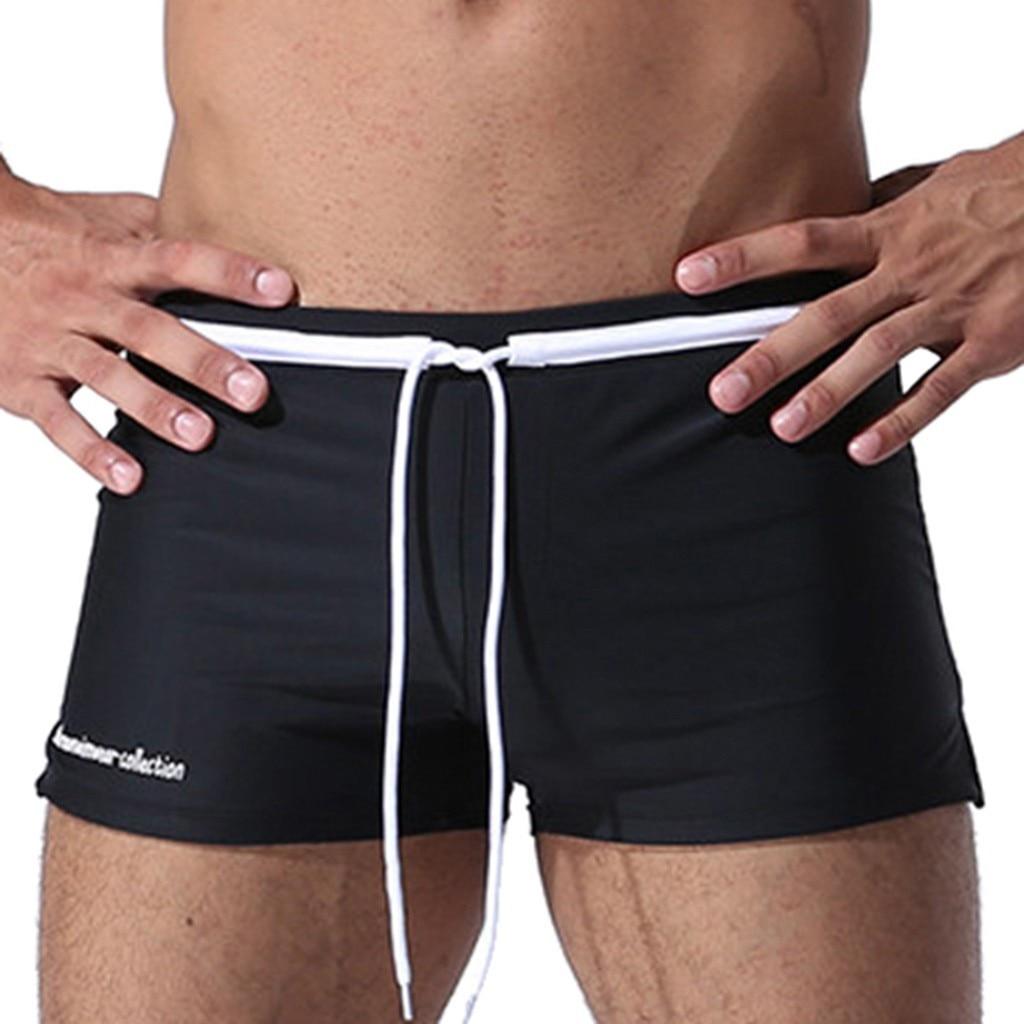 Summer   Shorts   Men Drawsting Quick Dry Men's Beach   Shorts   Elasticity Slim Breathable Trunks   Board     Shorts   For Men Swimwear 19FEB2