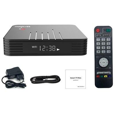 MAGICSEE N5 Max TV Box Android 8 1 Amlogic S905X2 2GB 4GB 32GB/64GB ROM Set  Top Box 2 4GHz+5GHz Wifi BT4 1 4K Smart Media Player