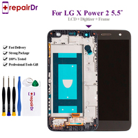 5.5'' For LG X Power 2 M320/X power2 LCD Screen Display+digitizer Touch Glass Frame Assembly Tested For LG X Power 2 Lcd Screen
