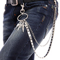 Hip Hop Jeans  Waist Chain Cool Trousers Multilayer Metal Chatelaine Gothic Rap Waist Chain Jewelry