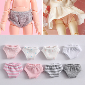 New 9 colors Doll's Underwear Briefs for obitsu11 Doll Underpant Knickers for ob11,1/12bjd doll accessories Clothing(China)