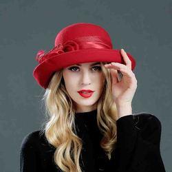 MTTZSYLHH, топ, женская шляпа в английском стиле, весна и лето, модная Цветочная шляпа, теплая шапка, чистый высококачественный шерстяной фетровы...