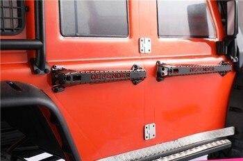 4 Stücke Metall Tür Griff Schutz Für 1/10 RC Crawler Auto TRX4 Defender RC4WD D90 D110