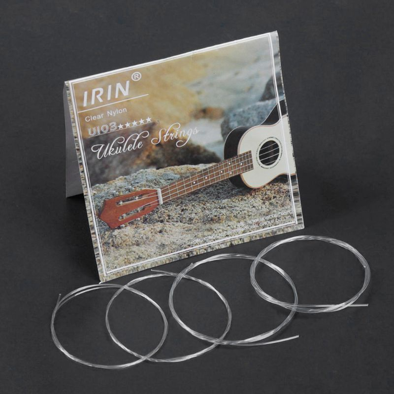 IRIN U103 Ukulele Strings Clear Nylon B-F-D-A For 21 23 26 Inch Stringed Instrument