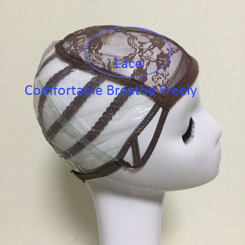 Brown Glueless Lace Wig Cap For Making Wigs With Adjustable Straps Weaving Caps For Women Hair Net & Hairnets Easycap  6017 3