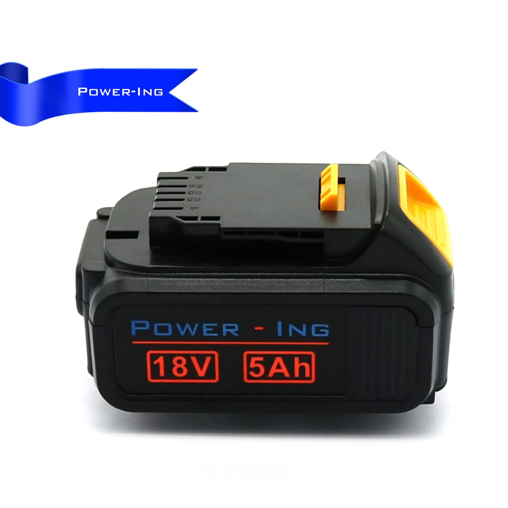 For Dewalt 18v 5ah replacement battery for dewalt power tools sets 2PCS 18v 5ah high capacity replacement rechargeable battery for black