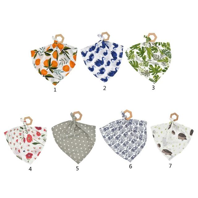 Combination Of Baby Towel And Wood Teether For All (0-3 years) Nursery Shop by Age Teethers & Rattlers Towels