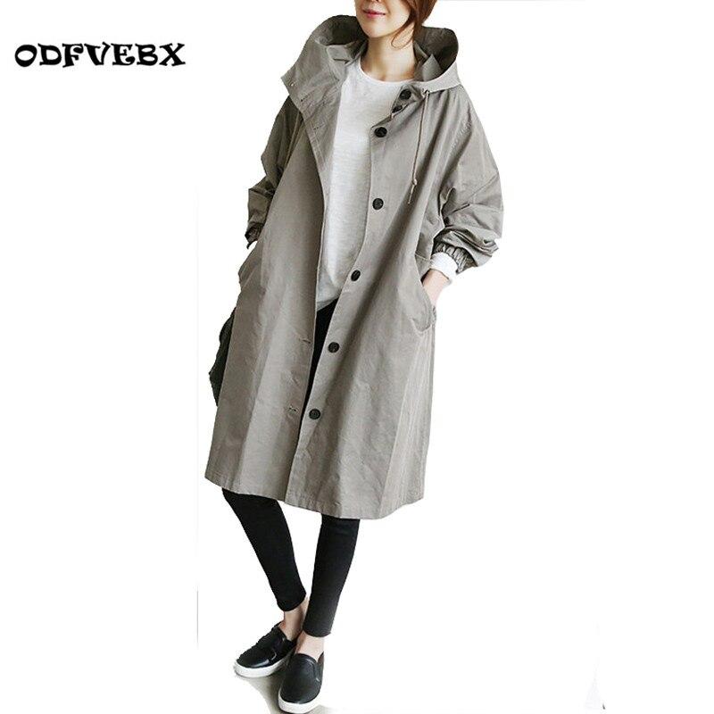 2019 printemps et automne nouvelle femme vestes mode lâche confortable coupe-vent veste à capuche mince manteau femmes vêtements ODFVEBX