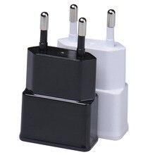 """5V 1A ארה""""ב איחוד אירופי תקע USB פלט נסיעות וול מתאם מטען כוח AC Plug נייד טלפון Dock טעינה עבור סמסונג גלקסי S10 S9"""