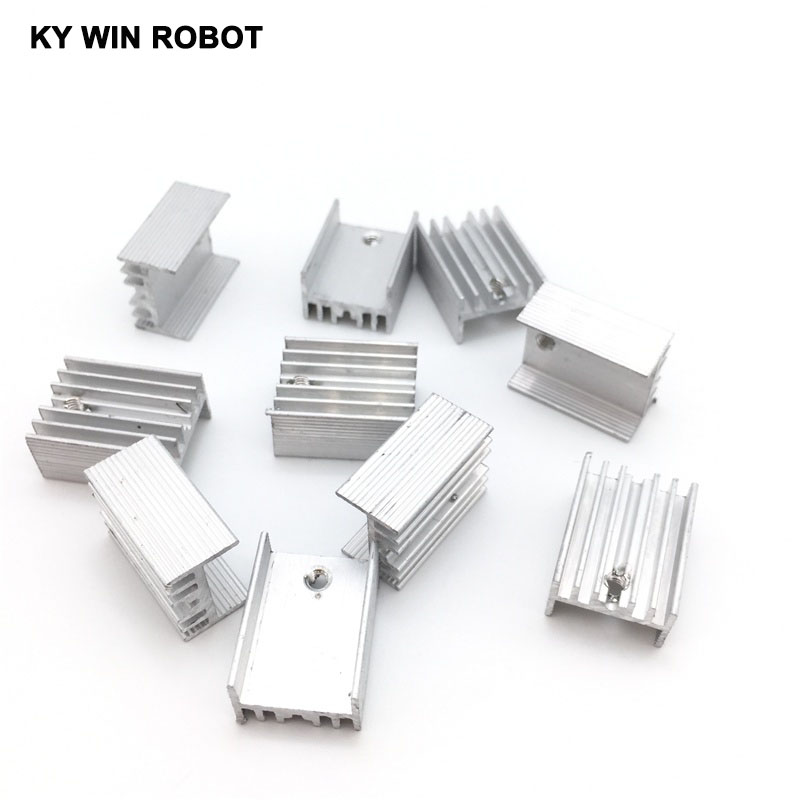 50pcs Aluminium TO-220 Heatsink TO 220 Heat Sink Transistor Radiator TO220 Cooler Cooling 20*15*10MM