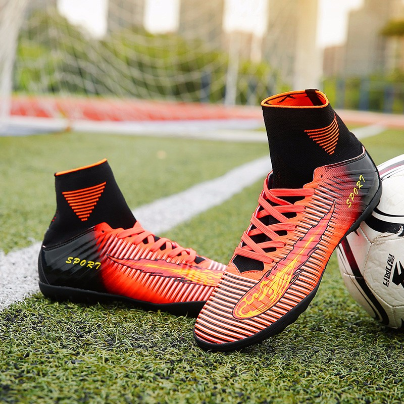 2017 High Quality Cheap Indoor Soccer Shoes Cleats High Ankle Kids Football Boots Superfly Original Boys Girls Sneakers11