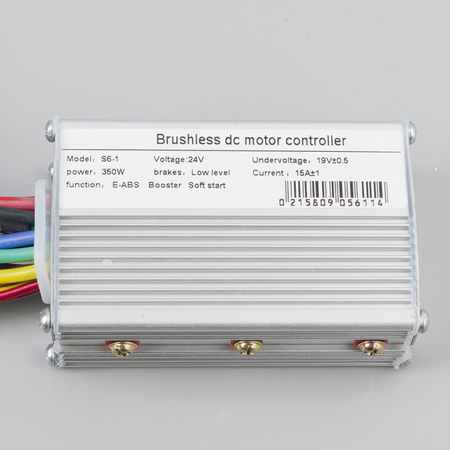 New Brushless DC Controller 350W 24V 36V 48V For Electric Bike Scooter Motorcycle Speed Motor 6MOSFET With Hall Reverse D26