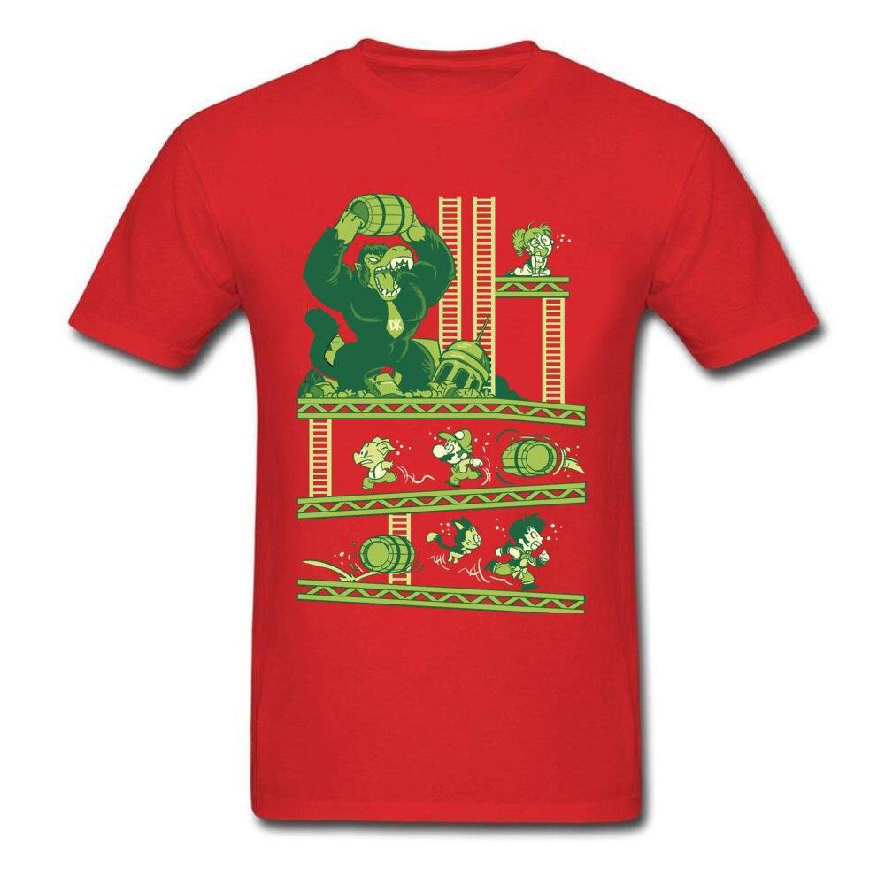Dragon-Kong-Ball-Super-Mario Mens 2018 Hot Sale Tops Shirt O-Neck Fall Pure Cotton T-Shirt Printed On Short Sleeve Tshirts Dragon-Kong-Ball-Super-Mario red