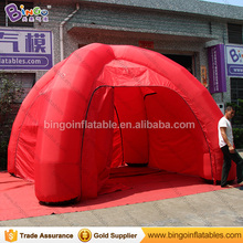 6 Meters all red color inflatable spider tent hot sale customized blow up tent with air blower for event toys
