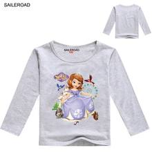 SAILEROAD Cartoon Sofia Children Kids Long Sleeve Shirts 2017 Years New Spring Fall Baby Girls Tops Tees T-Shirts Garments
