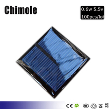 100pcs 0.6Watt 5.5v 90Ma 65*65mm Mini Solar Panel Module Solar System Epoxy Cell Charger DIY Battery Chargers