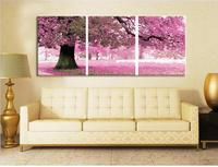 DIY Frameless Canvas Digital Oil Painting By Numbers Unique Gift Pictures 40x50cmx3Panel The First Love Place