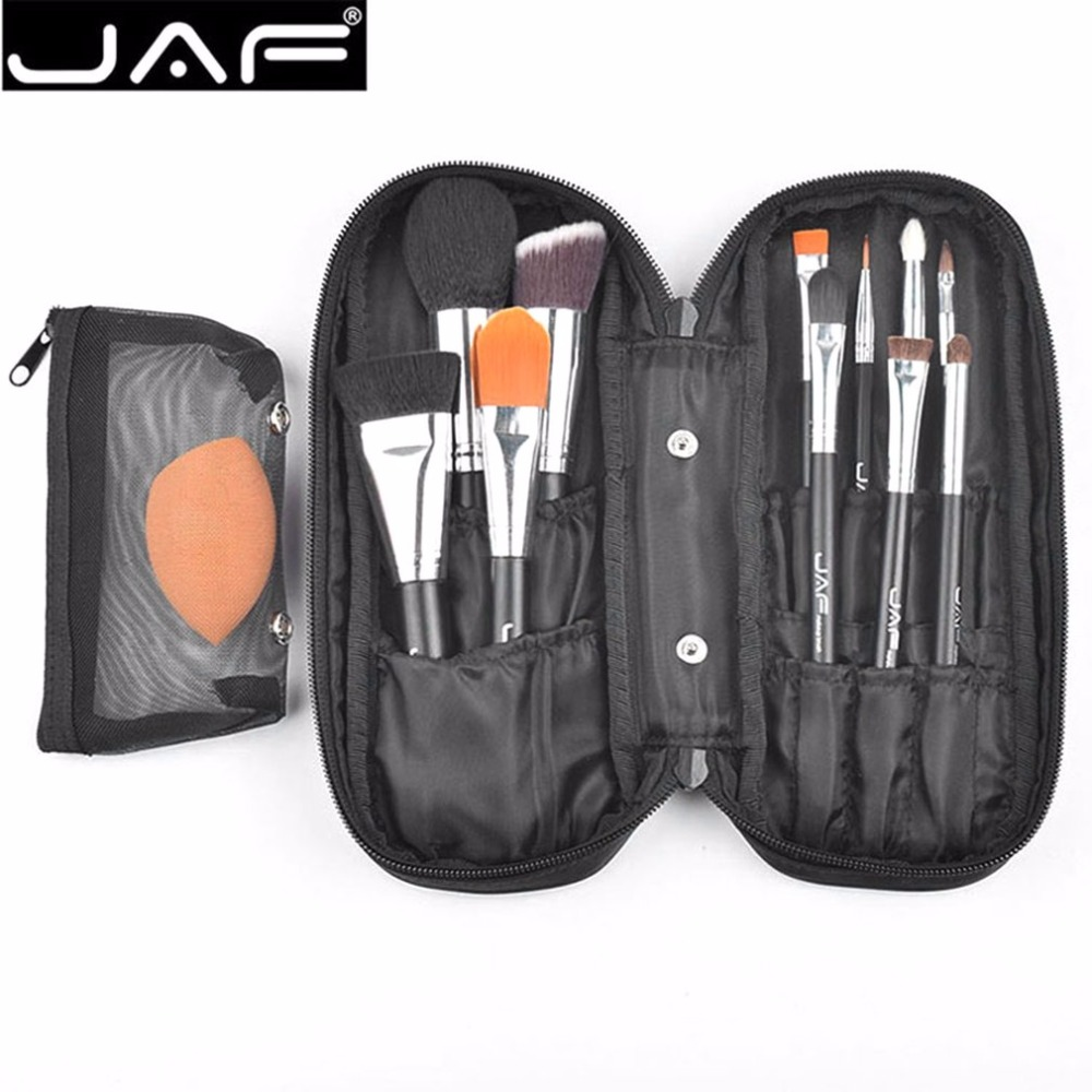 JAF Professional 12PCS/SET Facial Makeup Brushes Set Foundation Eyeshadow Eyeliner Lip Make up Brush With Storage Bag new touchbeauty 3 in1 rotating facial cleansing brush set with 3 replacement brush heads 2 speed settings with storage box tb 0759a