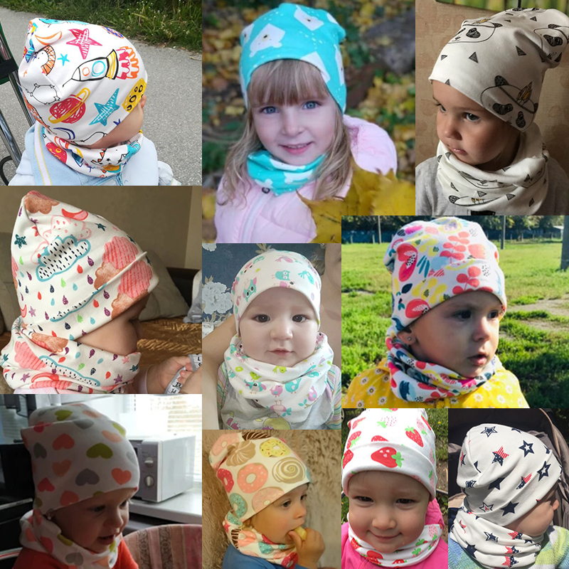cartoon baby hat scarf