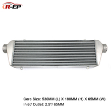 цена на R-EP Universal Aluminum Intercooler 530x180x65mm 2.5inch Inlet 65mm Outlet Cold Air Intake for Turbo Car