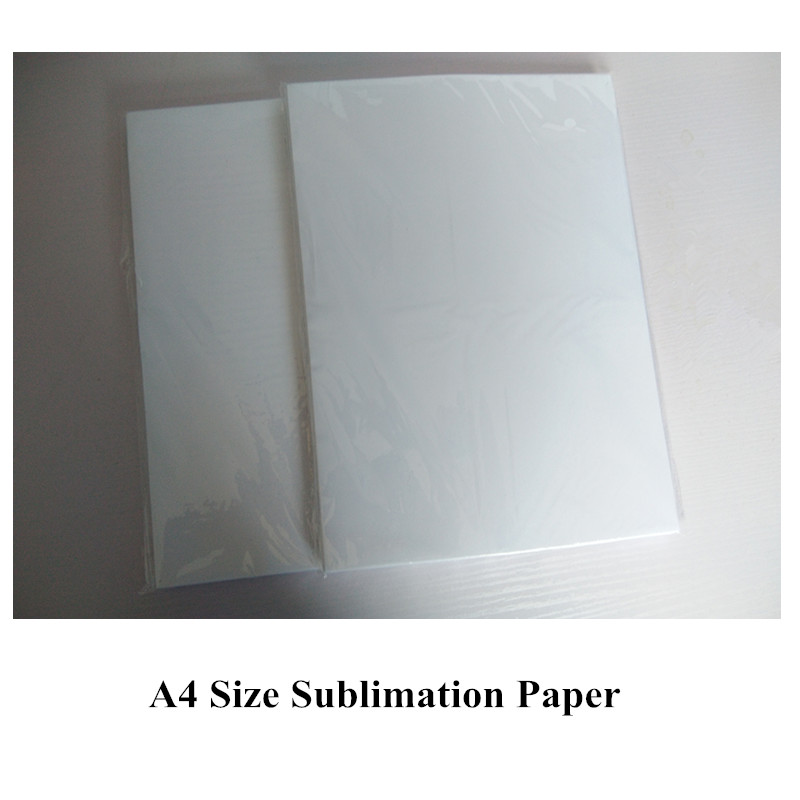 aa24b4f3 100pieces/lot A4 Sublimation Paper with Sublimation Ink Inkjet Printer  Transfer Rate Mug,Glass