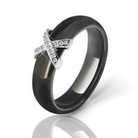 JFY 6MM Ceramic Ring Man Black Rings Comfort Fit Multi Faceted Female Ceramic Ring Engagement Brand