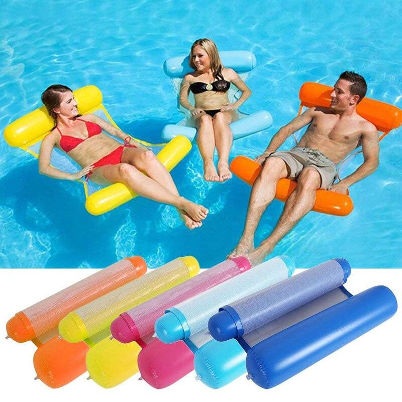 ЮЮ новый надувной матрас для бассейна кровать 120 см * 70 см воды надувное кресло для отдыха Купание и плавание плавающий гамак шезлонг для пла...