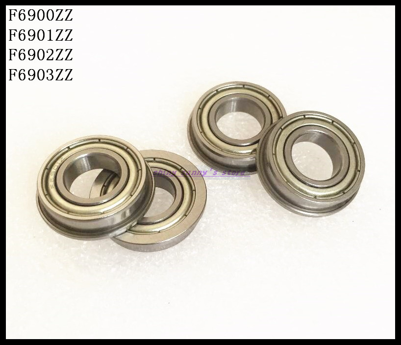 10pcs/Lot F6900ZZ F6900 ZZ 10x22x6mm Flange Thin Wall Deep Groove Ball Bearing Brand New