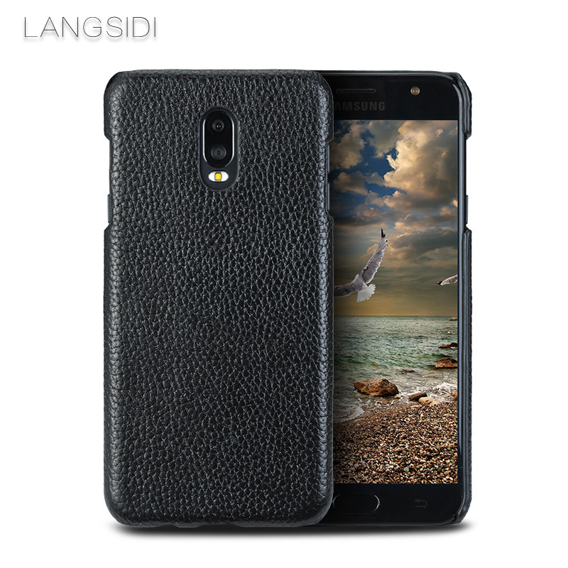 LANGSIDI Phone Case For Samsung Galaxy C8 Note 8 Case Crazy horse skin Back Cover For S6 S7 S8 S9 Plus Phone Case