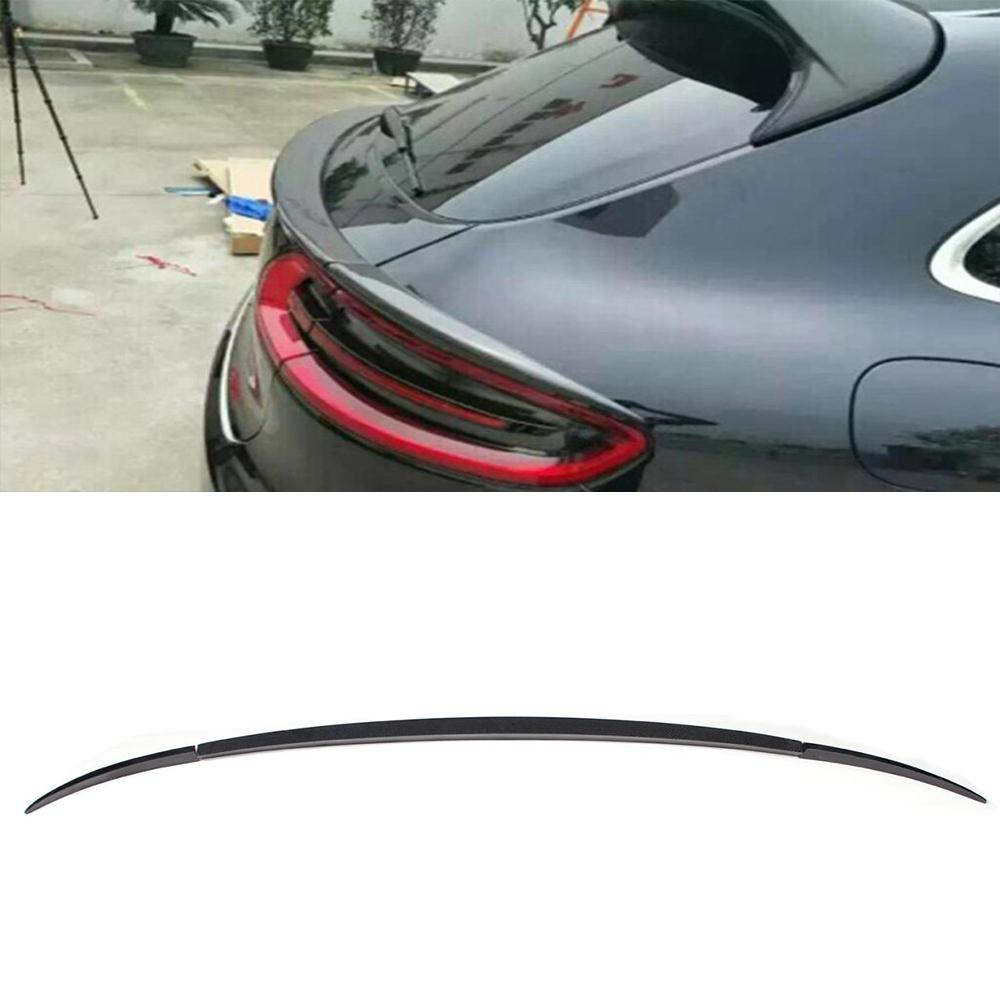 For macan carbon fiber 3pcs set rear trunk spoiler auto for Wing motors automobiles miami fl