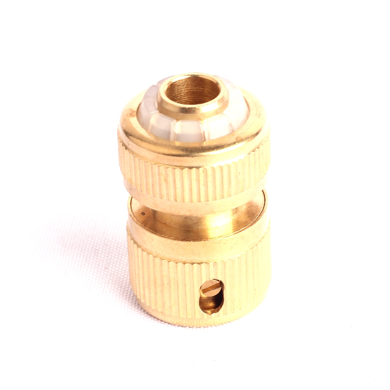 1pc <font><b>1/2</b></font> Inch Brass Stop Water <font><b>Connector</b></font> Garden Hose Pipe Brass Adapter&Fitting Green Thumb Brass <font><b>Quick</b></font> <font><b>Connector</b></font> image