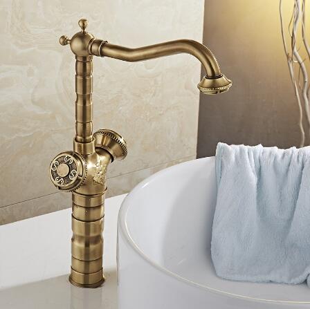 New Arrivals Antique Bathroom Basin Faucets Bronze Finish Basin Mixer Hot and Cold Water Tap Bathroom Faucet Kitchen faucet