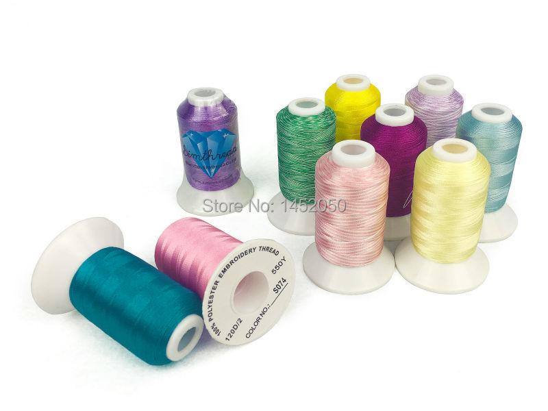 SIMTHREAD 120 couleurs assorties 100% Polyester fil à broder 550 Yards/bobine livraison gratuite-in Fil from Maison & Animalerie    2