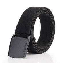 ENNIU Male Tactical Belt Top Quality Elastic 3.8 Cm Wide Canvas Belts Outdoor Women Alloy Buckle Waistband Ceinture Femme