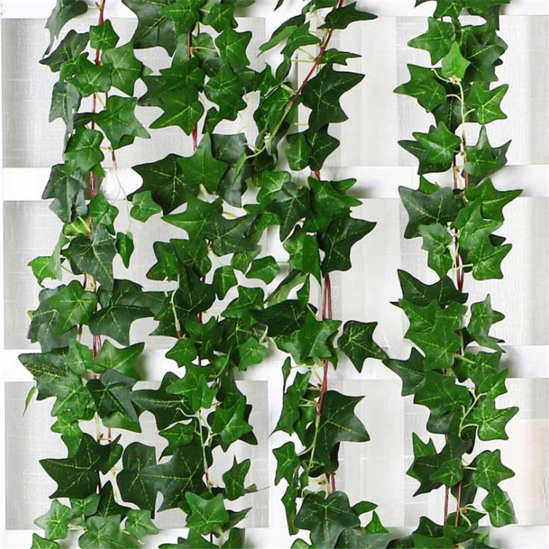 Artificial Plant Green Leaf Ivy Wall Decor Room Decoration Fake Plants  Wedding Decoration Plastic Vine Indoor artificial plants