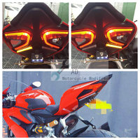 For Ducati 1299 Panigale 899 959 Rear Tail Light Brake Turn Signals Integrated Led Lights Motorcycle Accessories License Bracket
