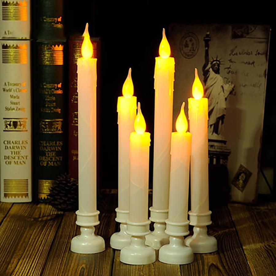 Led Candle Pillar Romantic Home Decoration Velas Bougie Anniversaire