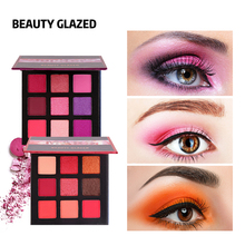 BEAUTY GLAZED Makeup Eyeshadow Pallete 9 Color Shimmer Pigme