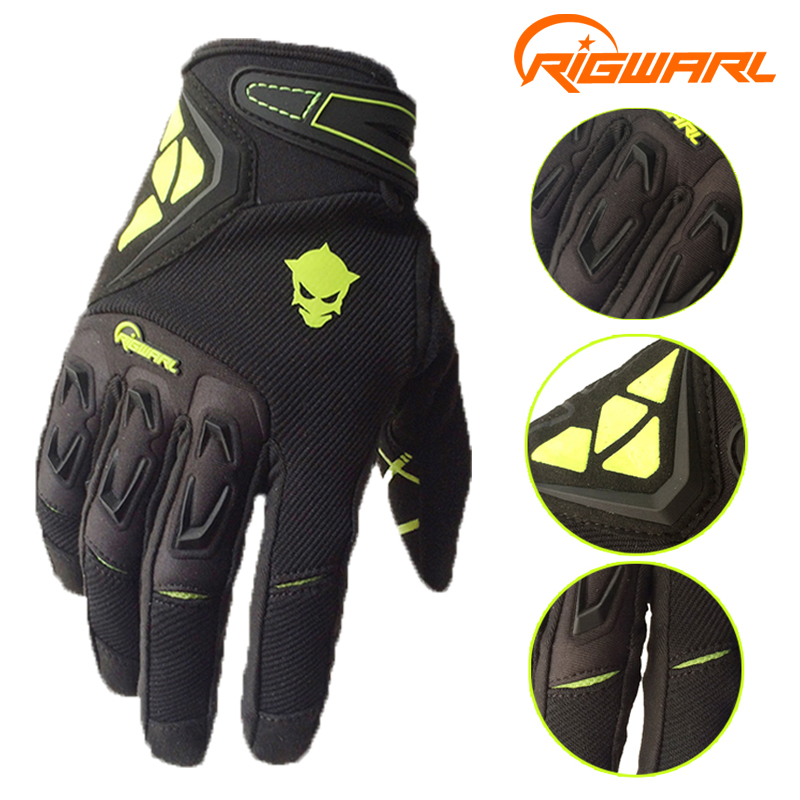 RIGWARL Men Spring Autumn Full Finger Cycling <font><b>Gloves</b></font> <font><b>Bike</b></font> <font><b>Motocross</b></font> Racing <font><b>Gloves</b></font> with Protect Shell Guantes Ciclismo image