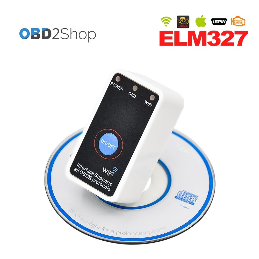 Super MINI WIFI ELM327 V2.1 with ON/OFF Switch ELM3 27 WIFI OBD2 auto Diagnostic tool