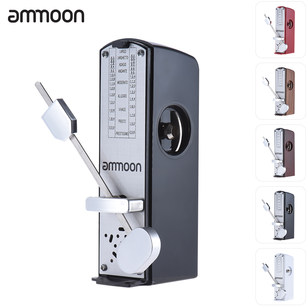 ammoon Portable Mini Mechanical Universal Metronome 11cm Height for Piano Guitar