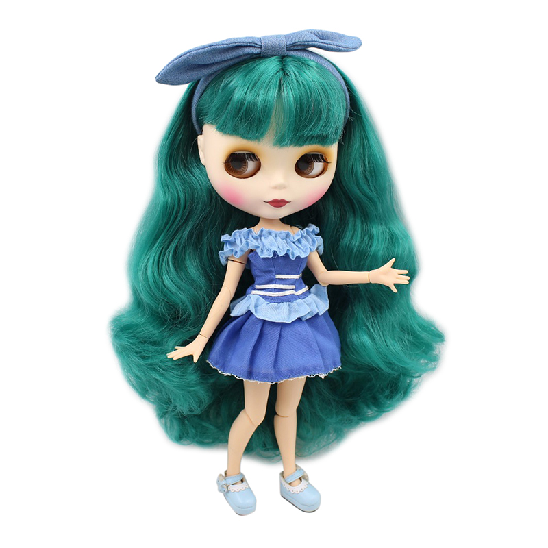 factory blyth doll BL1206 matte face green wavy hair joint body 1/6 bjd gift toy ssr 40 da h dc ac solid state relay ssr 40a 3 32v dc 90 480v ac w heat sink