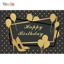Yeele Birthday Photocall Gold Balloons High Heels Photography Backdrops Personalized Photographic Backgrounds For Photo Studio