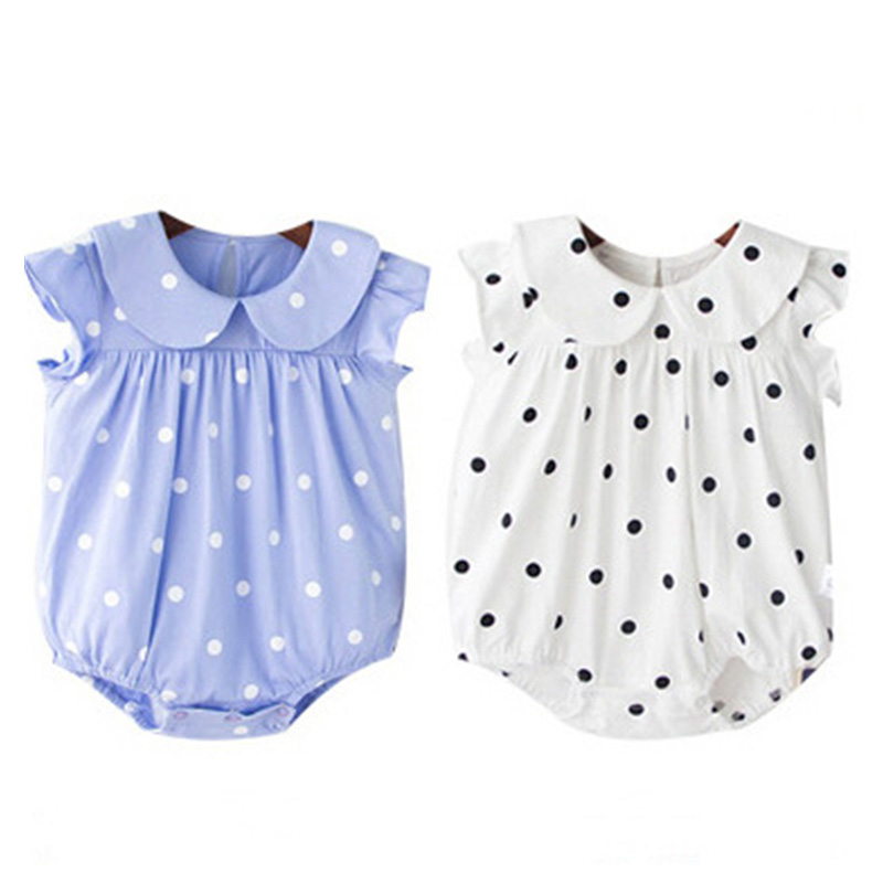 Baby Rompers Summer Baby Girl Clothes Short Sleeve Baby Girl Dress 2017 Newborn Baby Clothes Roupas Bebe Infant Jumpsuits penguin fleece body bebe baby rompers long sleeve roupas infantil newborn baby girl romper clothes infant clothing size 6m
