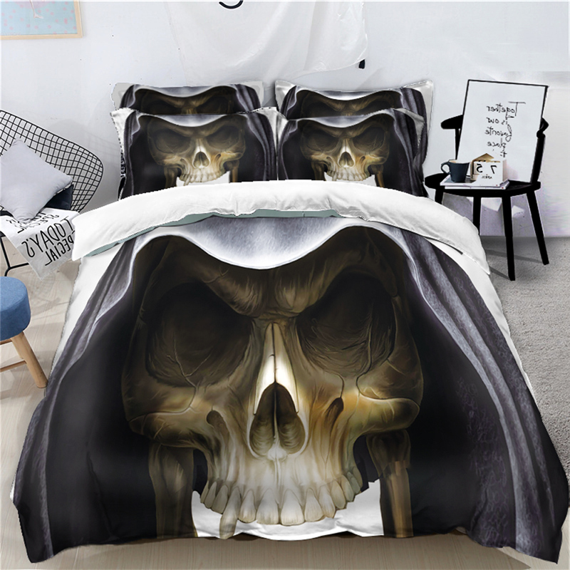 3D Skull Halloween Bedding Set Digital printing Duvet ...